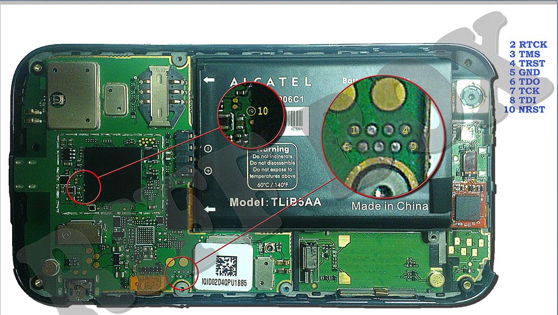 Alcatel 995 JTAG Pinout